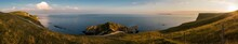 Panoramic View Of Durdle Door Against Sky At Sunset