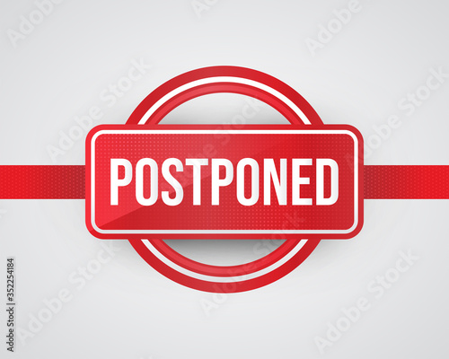 Postponed Sign Illustration with Realistic Style Canvas Print