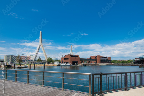 Leonard P. Zakim Bunker Hill Memorial Bridge Canvas Print