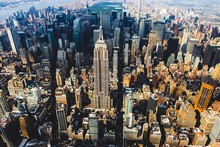 High Angle View Of Empire State Building In City