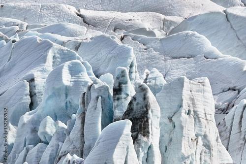Vászonkép Epic glacier ice mass in Iceland, Svinafellsjokull