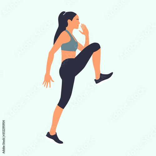 Cuadros en Lienzo mujer entrenando, deporte, ejercicios de rutina