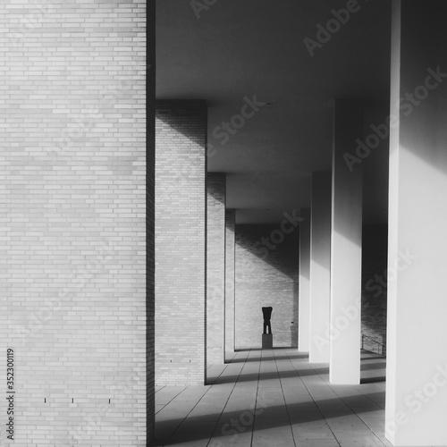 Corridor Of Building Fotobehang