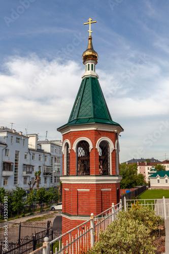 Bell tower of the assumption monastery. Perm Wallpaper Mural