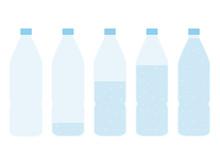 Plastic Bottle Of Water Set. E...