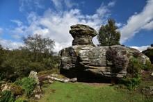Brimham Rocks By Against Sky