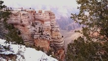 People On Peak In Grand Canyon National Park