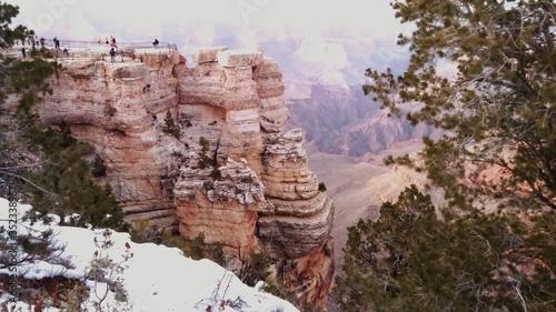 Fotografija People On Peak In Grand Canyon National Park