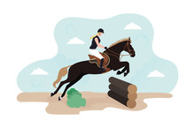 Illustration Of Horse Cross. E...