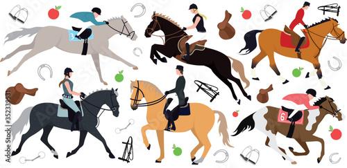 Fotografie, Obraz Horse riders