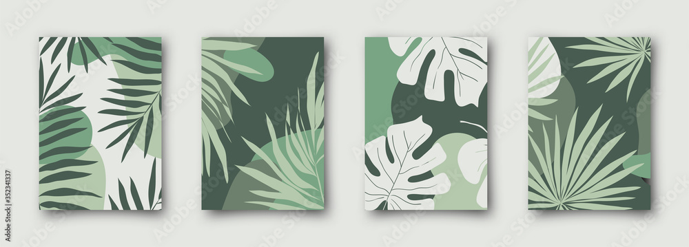 Fototapeta Set of social media sale banners template. Hand drawn vector illustrations for website and mobile website banners, posters, email and newsletter designs, ads, promotional material.