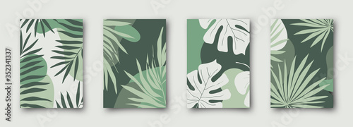 Fototapeta Set of social media sale banners template. Hand drawn vector illustrations for website and mobile website banners, posters, email and newsletter designs, ads, promotional material. obraz