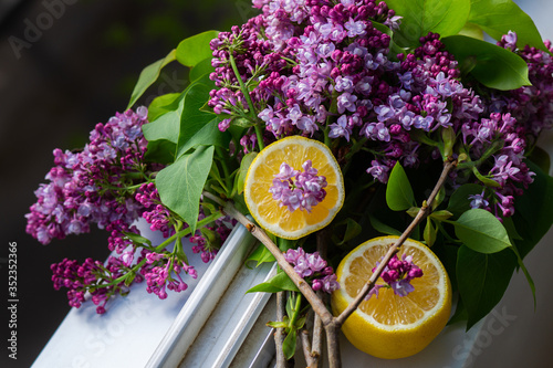 duet of fresh lilac and lemon