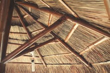 Low Angle View Of Thatched Roof