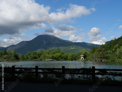 Mt.Ibuki and Mishimaike in Shiga Prefecture Canvas Print