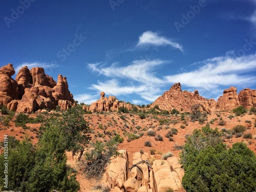 Tela Idyllic Shot Of Rock Formation In Arches National Park Against Sky