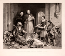 Scene In The Olden Time At Bolton Abbey Engraved George Zobel After Painting By Edwin Henry Landseer. Published In London On May 16, 1865 By William Tegg, Pancras Lane