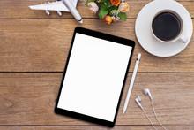 Mockup Image Of Black Tablet C...