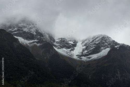 Photo New Zealand Mountains Snowy High Altitude