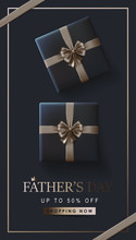 Happy Fathers Day Greeting Card Banner Background. Vector Illustration.