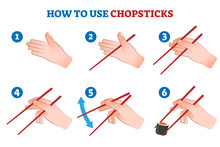 How To Use Chopsticks Vector I...