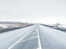 Road Against Clear Sky During Winter