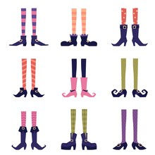 Colorful Witch Legs Set - Hall...