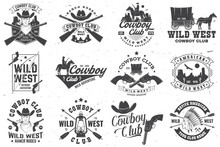 Cowboy Club Badge. Ranch Rodeo...