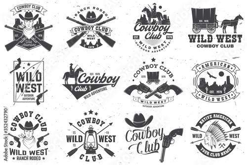 Papel de parede Cowboy club badge