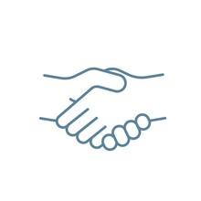 Handshake Simple Line Icon. Ha...