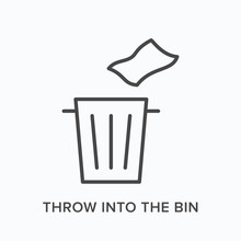 Throw Trash Into The Bin Flat ...