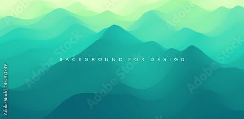 Fototapeta Mountain landscape. Mountainous terrain. Vector illustration. Abstract background. obraz