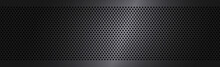 Black Perforated Background Wi...