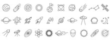 Cosmos Icons Set. Linear Cosmo...