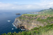 Walk on the Azores archipelago. Discovery of the island of Sao Miguel, Azores.sete citades
