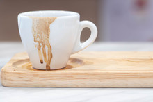 Dirty Coffee White Mug And Cof...
