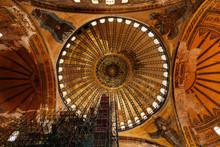Interior Of Illuminated Hagia Sophia
