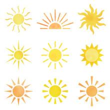 太陽 アイコン 水彩風 ...