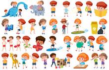 Set Of People Cartoon Character