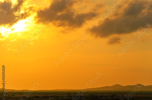 Fototapety, obrazy: Scenic View Of Mountains At Sunset