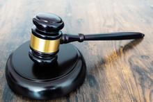 Close-up Of Judges Gavel Or Au...