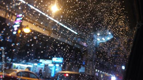Foto Cars Seen Through Wet Window At Night