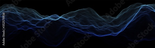 Abstract wave background. Music or sound illustration. Big data technology. Artificial intelligence concept. Network visualisation.