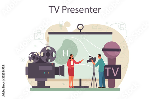 Valokuvatapetti TV presenter concept