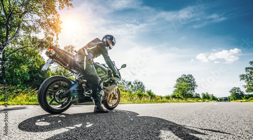 Fotografia, Obraz motorbike on the road riding