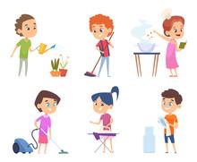 Kids Housework. Childrens Help...