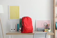School Backpack And Stationery...