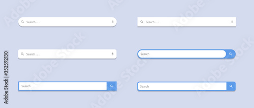 Obraz Search Bar Flat Icon Vector Set Collection. Website Search Box Image - fototapety do salonu