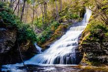 Scenic Dingmans Falls In Delaware Township Tourist Destination