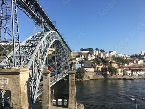 Grande angular da ponte D. Luís I no Porto Canvas Print